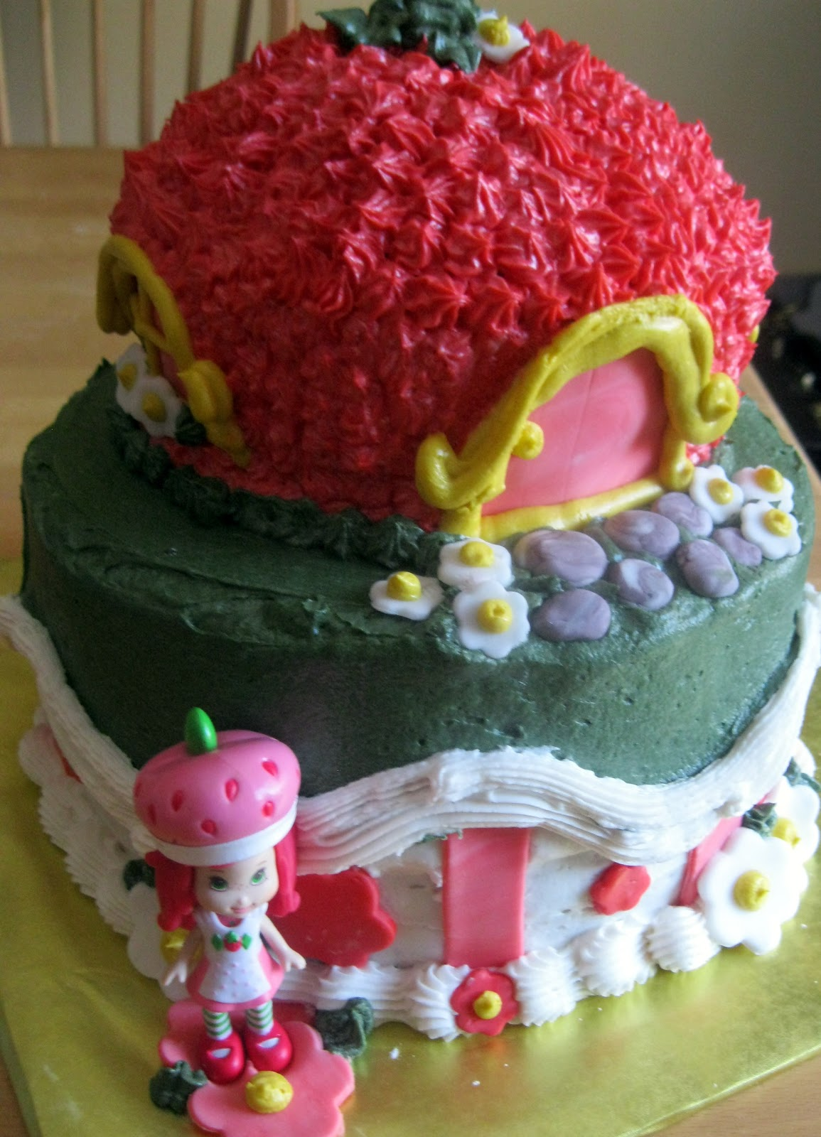 Adirondack Baker Julias Strawberry Shortcake Birthday Cake