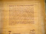 Placa explicativa de la història de l'església de Sant Fèlix de Canovelles