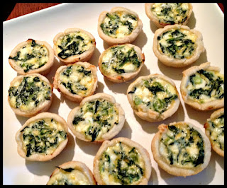 Recipe: Mini cheesy spinach quiches