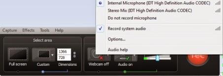 merekam suara dari komputer camtasia recorder