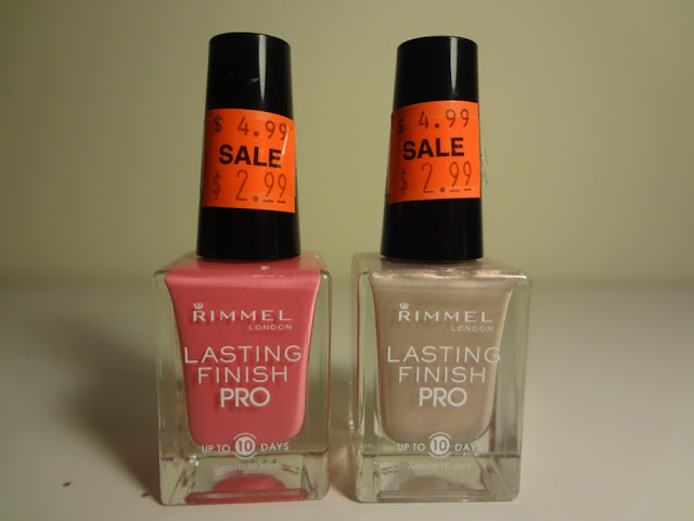 rimmel baby pink and crushed pearl nail polish