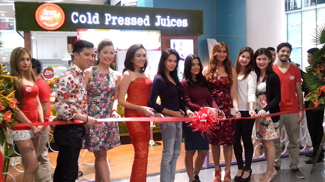 The owners of Sexy Detox with Former Congresswoman and Philhealth Director Risa Hontiveros,, Beauty Queen Maria Isabel Lopez, Actresses Michelle Madrigal, Nadine Samonte, Roxanne Guinoo.