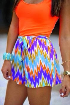 Colourful Patterning Shorts