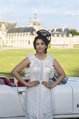 Aishwarya Rai at the launch of Longines' new Dolce Vita watch in Chantilly, France