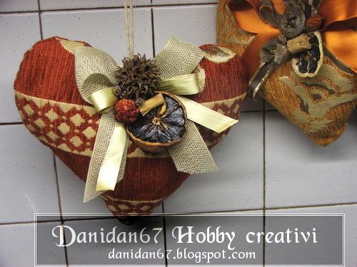 Danidan67 hobby creativi cuori natalizi christmas hearts - Nastri decorativi natalizi ...