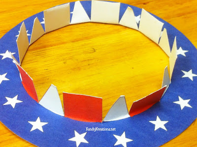 Make a hat for Uncle Sam's patriotic Sparkler holder