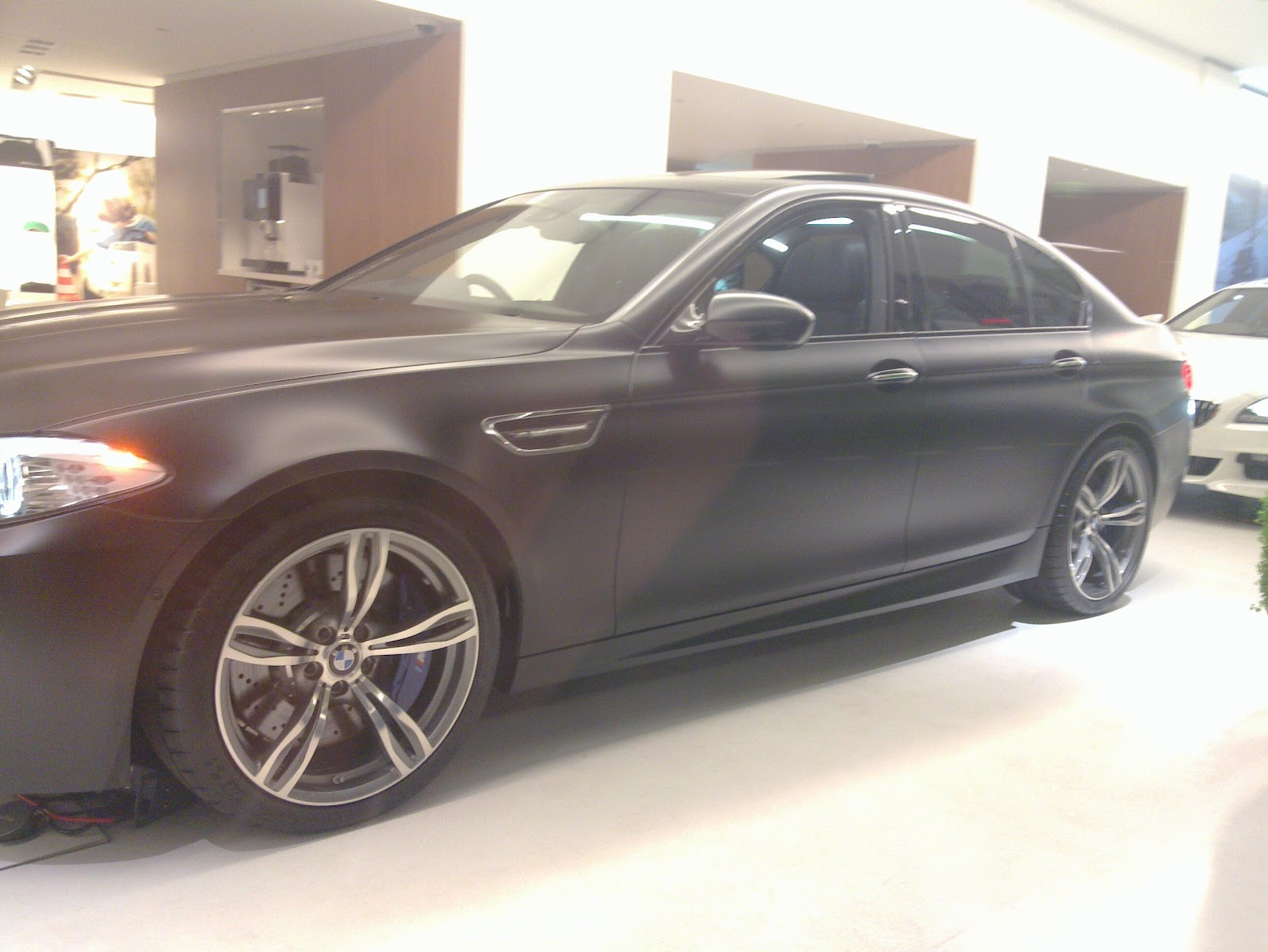 London Park Lane BMW M5 Matte Black Car Showroom 2012