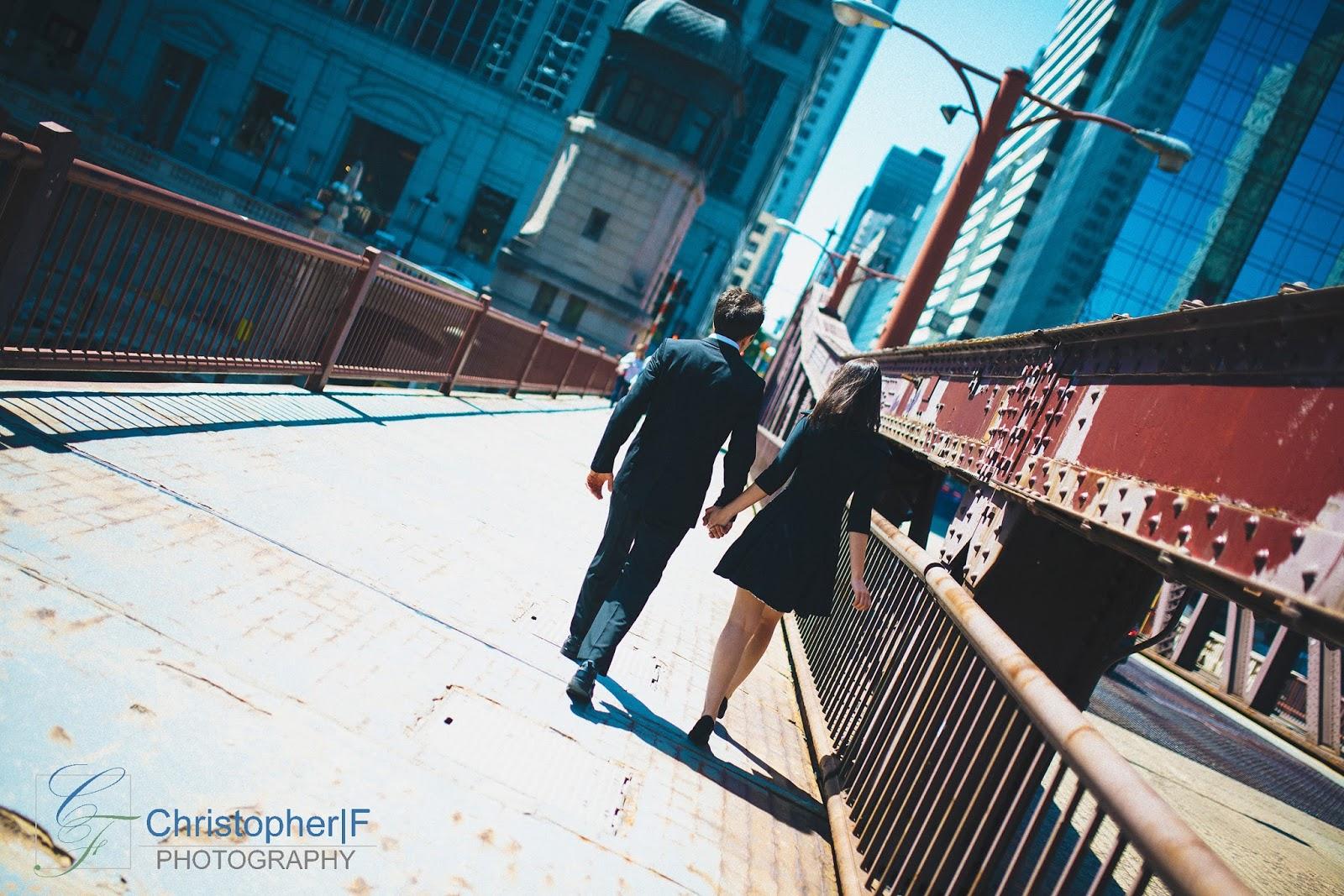 Chicago Loop Engagement Photo