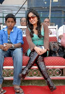 Madhavi Latha Stills at CCL 2012 (Crescent Cricket Cup) Match