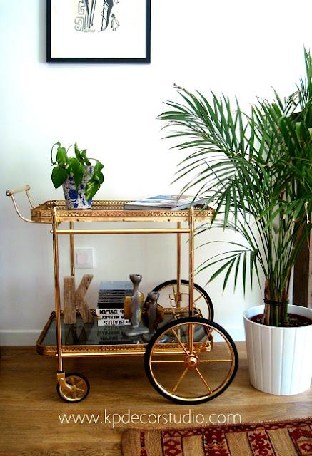 Venta de camareras vintage doradas estilo retro y art deco
