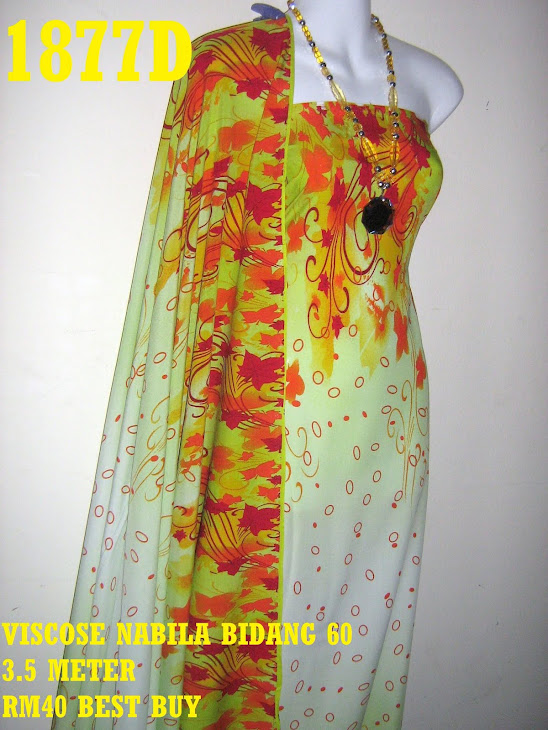 VN 1877D: VISCOSE NABILA BIDANG 60 INCI, 3.5 METER
