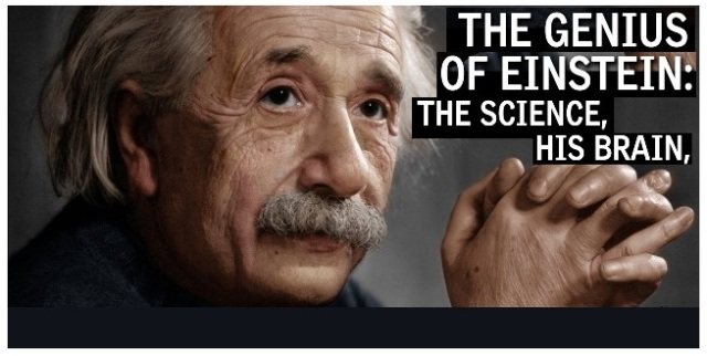 people talking to themselves are geniuses Einstein was too