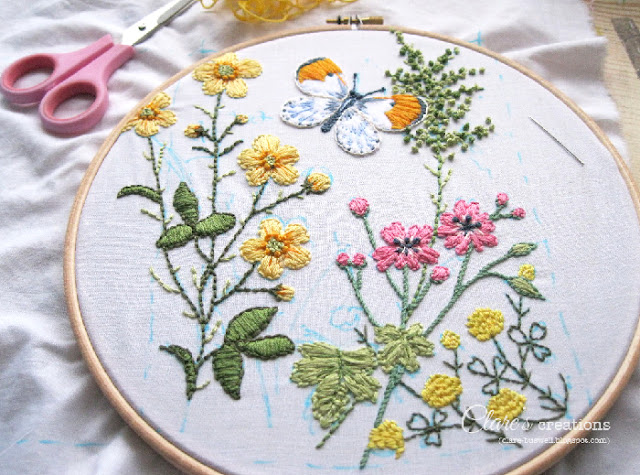 A little embroidery clare s creations