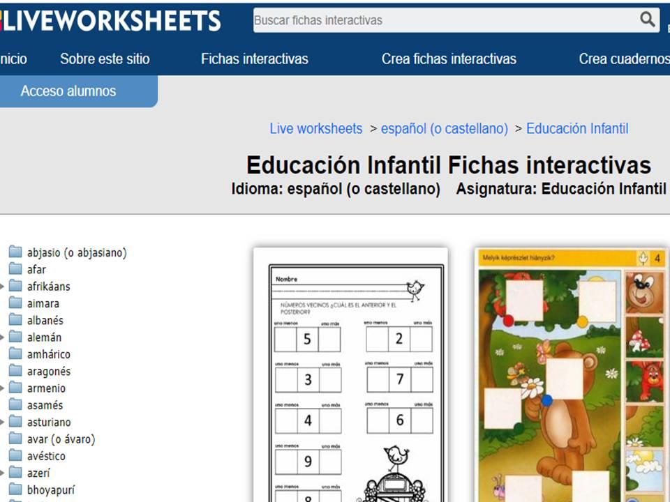 Fichas interactivas