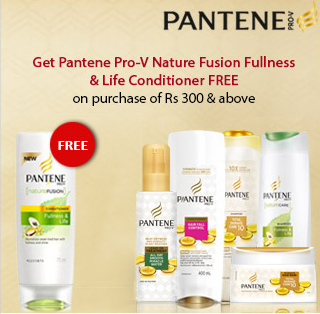 Pantene Pro-v Nature Fusion Fullness & Life Conditioner Free on Rs 300+ purchase