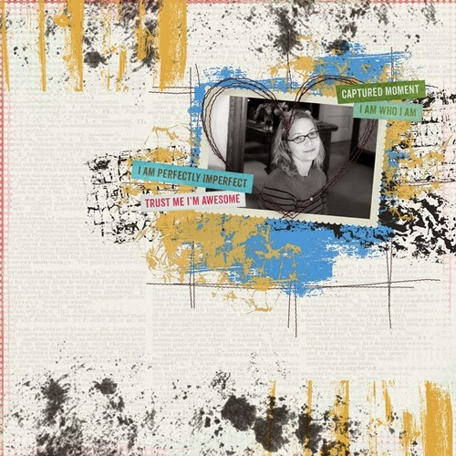 Selfie Digital Scrapbooking Page