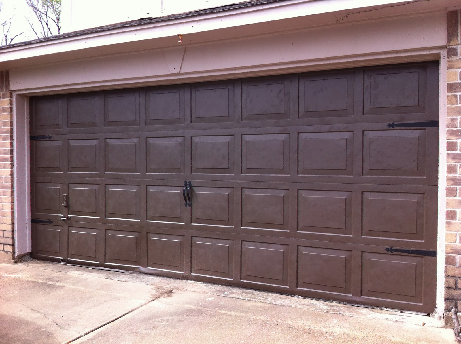 Made to love faux carriage garage door for Garage doors