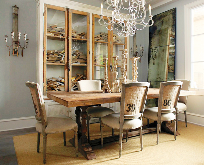 Country french dining room furniture sets luxury classic for Antique dining room ideas