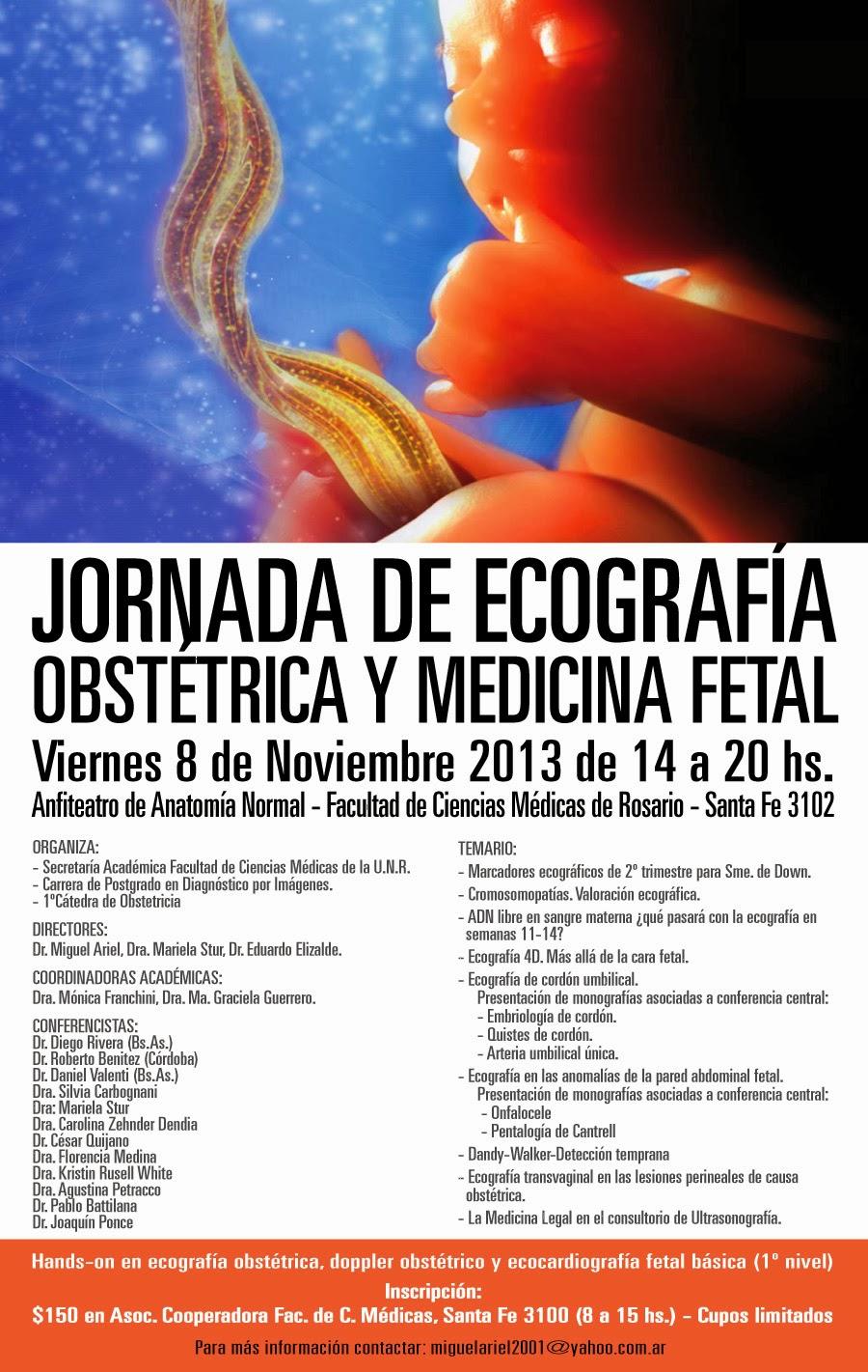 Jornada de Ecografía Obstétrica y Medicina Fetal en Rosario - El ...