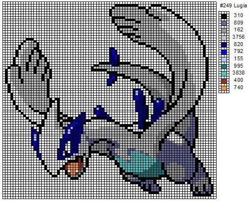 Lugia Pixel Art Grid Related Keywords Suggestions Lugia Pixel
