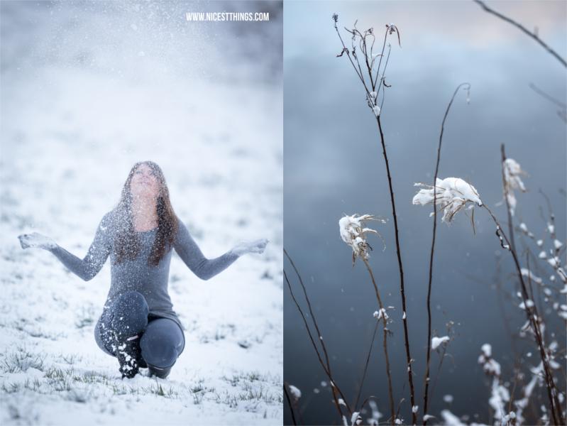 Wintershooting Schnee werfen
