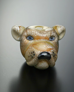 dog head bead