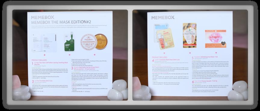 겟잇뷰티박스 by 미미박스 memebox beautybox #the mask edition #2 unboxing review preview box paper card text info