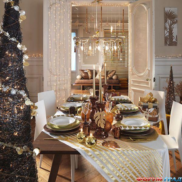 Decorar a  mesa de consoada Natal