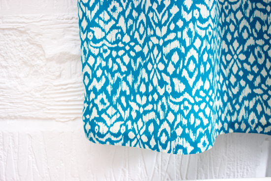 DIY summer dress hand stitched hem