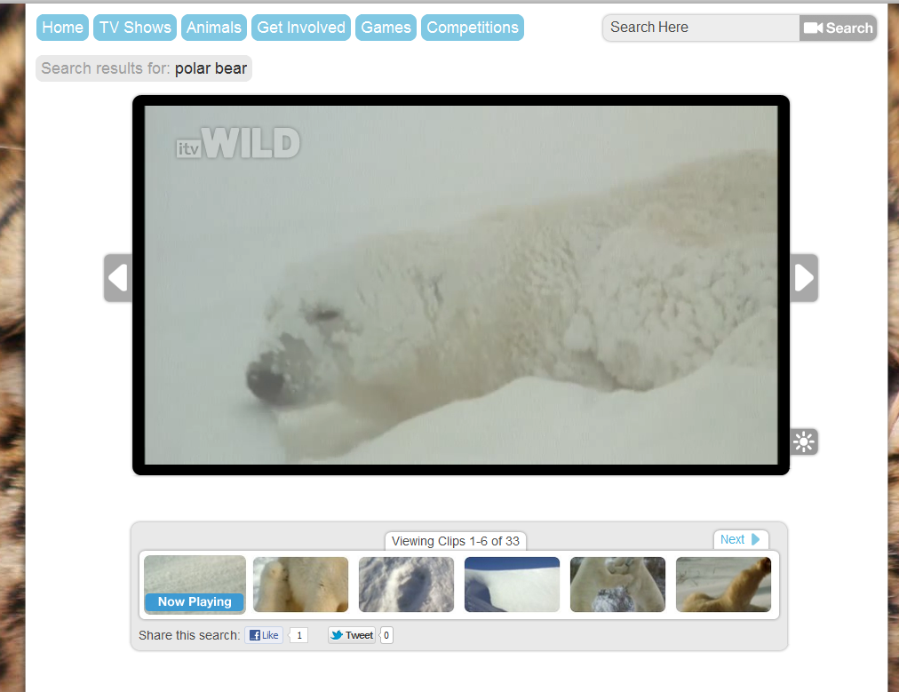 Free Technology for Teachers: itv Wild - Video Clips About Wildlife