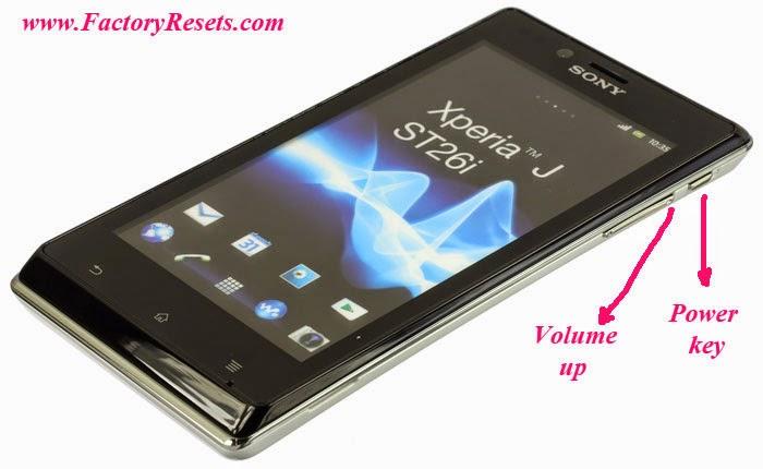 Hard Reset Sony Xperia J ST26ia