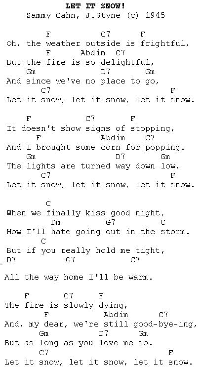 Christmas Carols Lyrics And History Let It Snow