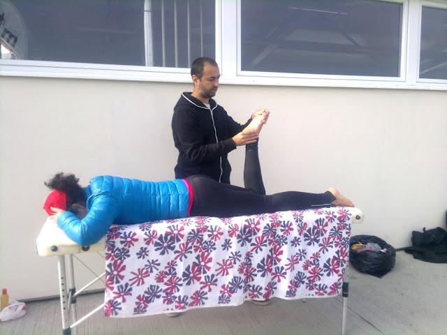 Florin Chindea, maseur oficial la Petrovaselo Trail Run. Masaj din Timişoara la Petrovaselo. Mobilizare gleznă