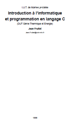 cours langage c pdf gratuit