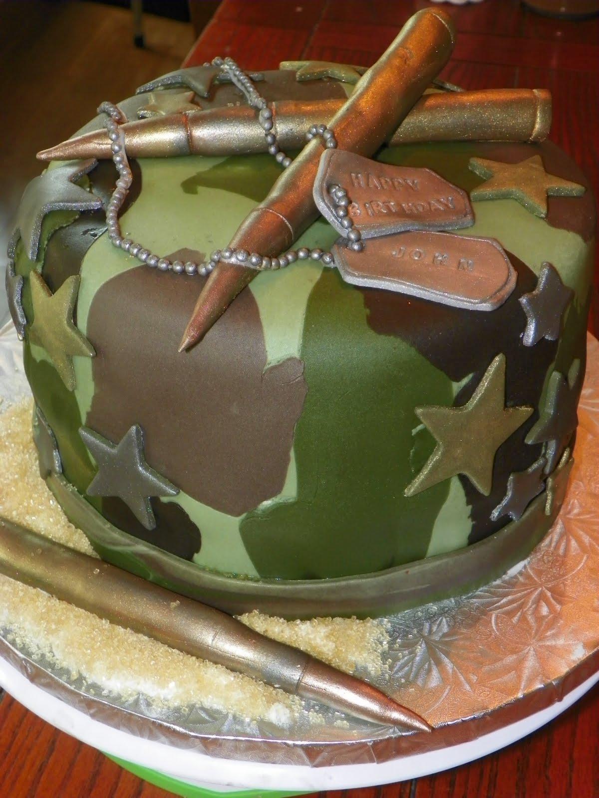 Plumeria Cake Studio USMC Birthday Cake