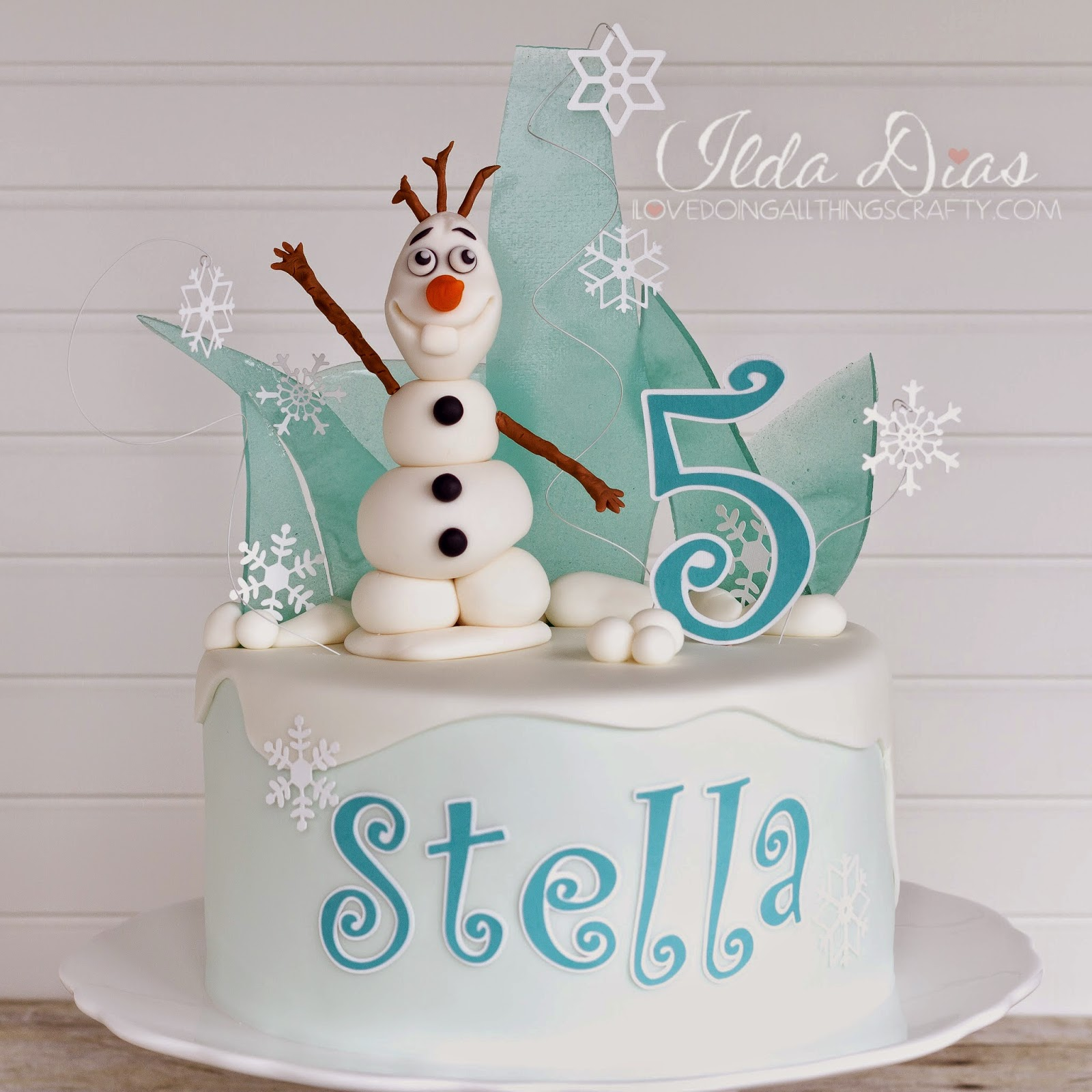 I Love Doing All Things Crafty Frozen Themed Birthday Cake And Card