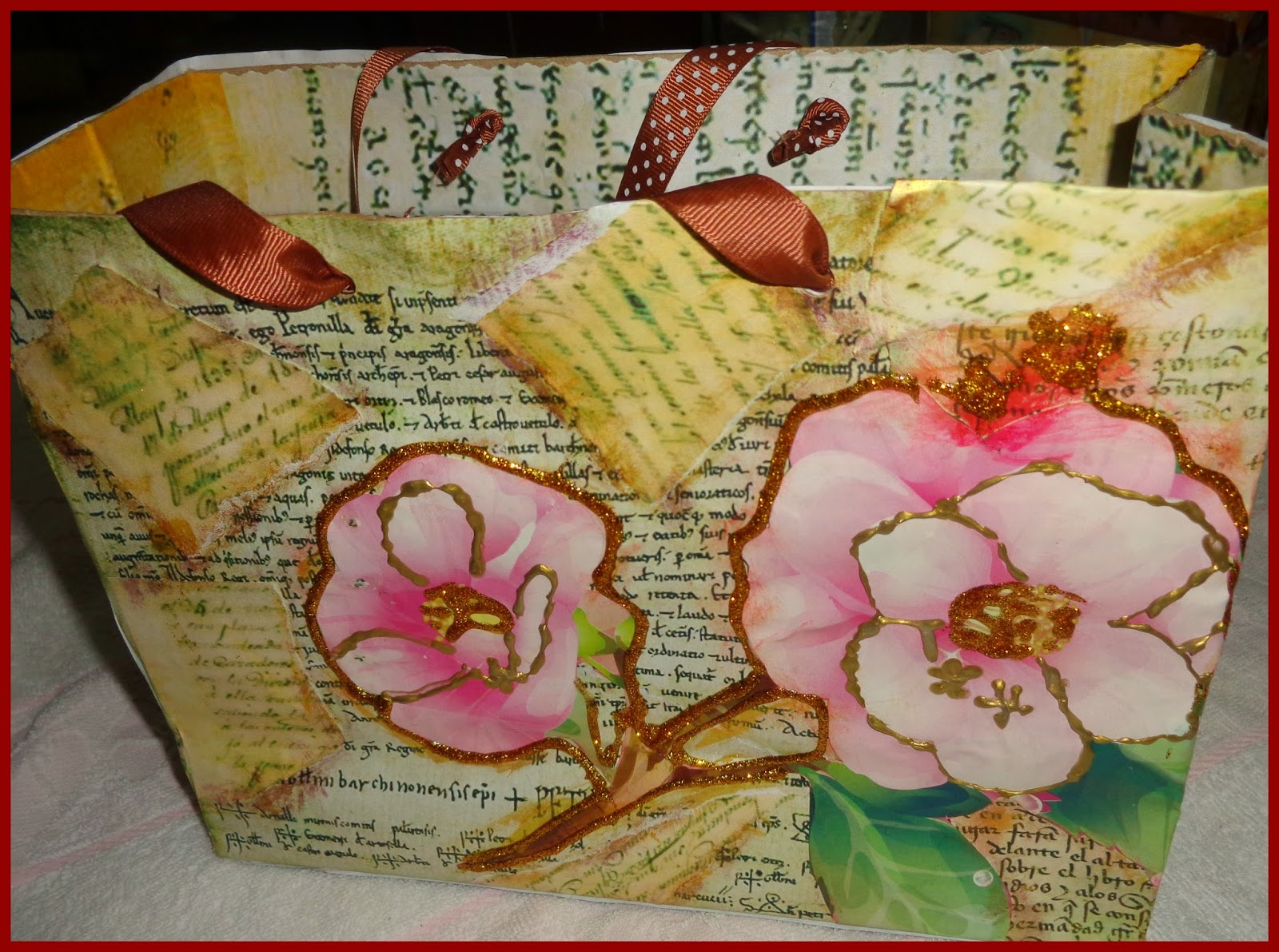 Manualidades el colibri paso a paso para decorar bolsas - Bolsas para decorar ...