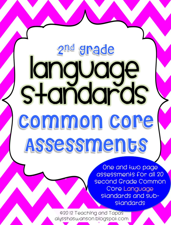 2nd Grade Common Core Language Assessment Teaching And Tapas