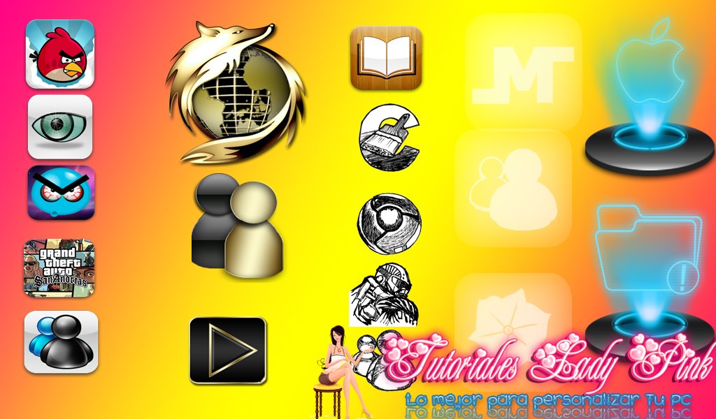 pack e iconos para tu pc tutos lady pink