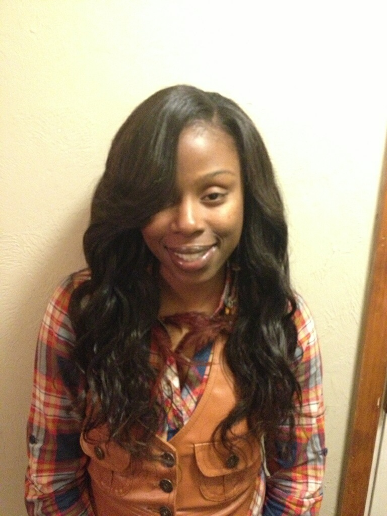 Sew-in using 3 bundles of Brazilian body wave