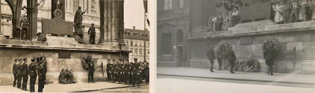 Agli inizi del 1800 venne demolito lo Schwabinger Tor e fu iniziato un progetto di risistemazione delle case site nelle vicinanze. Nel 1817 Massimiliano I Giuseppe approvò un progetto di Leo von Klenze per la creazione di una piazza in tale zona, l'Odeonsplatz. L'idea di tale progetto era però del figlio di Massimiliano, Ludwig I. La piazza prese il nome dall'Odeon, una sala concerti costruita da Leo von Klenze tra il 1826 ed il 1828. Nel 1862 venne posto nella piazza un monumento equestre di Ludwig I, in cui il basamento è circondato da quattro allegorie che rappresentano la religione, l'arte, la poesia e l'industria. Il monumento è opera di Max Widnmann. Lungo la piazza si affacciano numerosi palazzi e monumenti tra cui:      la Theatinerkirche;     la Feldherrnhalle;  Monumento dedicato a Ludwig I      il Hofgartentor (ingresso dell'Hofgarten);     il Leuchtenbergpalais.