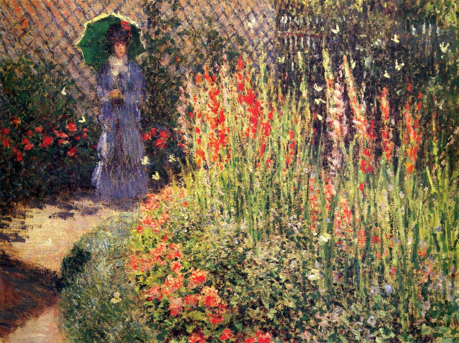 Claude Monet 1876 Gladioli Oil On Canvas 55.9 X 82.6 Cm. Detroit Institute  Of Arts, MI