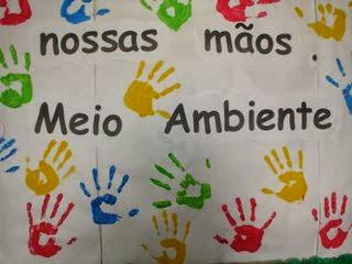 Educar x arte com as m os para o papel com tinta guache for Mural sobre o meio ambiente