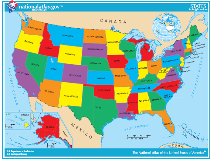 Brazil And The United States An Intercultural Exchange In - Us map that you can color states