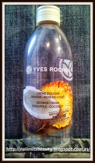Crema de ducha de Piña y Coco Plaisirs Nature de Yves Rocher