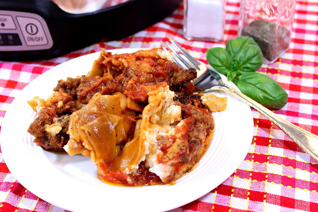 Whole Grain Crock Pot Sausage Lasagna