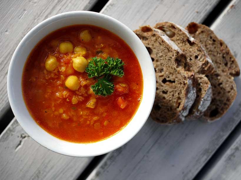 soppa med röda linser