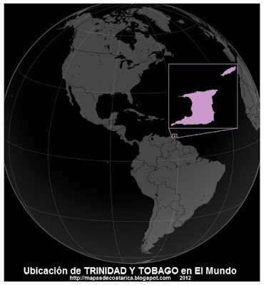 El Mundo. Ubicacin de TRINIDAD Y TOBAGO en El Mundo, wikipedia 