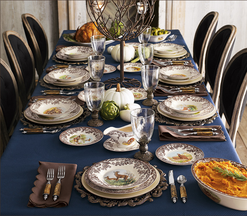 Navy Blue Table Settings