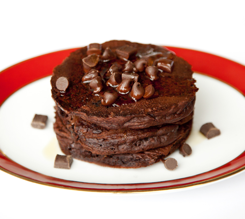 lookbook cookbook - vegan double chocolate fudge pancakes